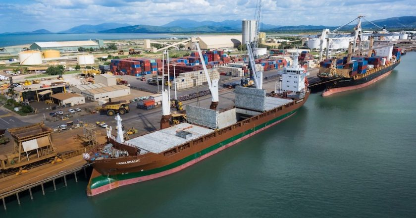 Construction is underway on a $193 million upgrade to the Port of Townsville as part of the largest expansion in the port's 156 year history.