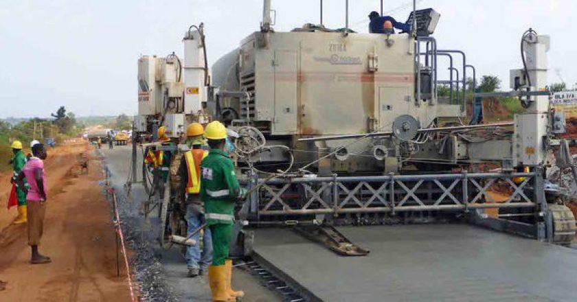 Paving concrete in southwest Nigeria