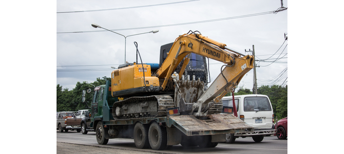 How to move construction equipment