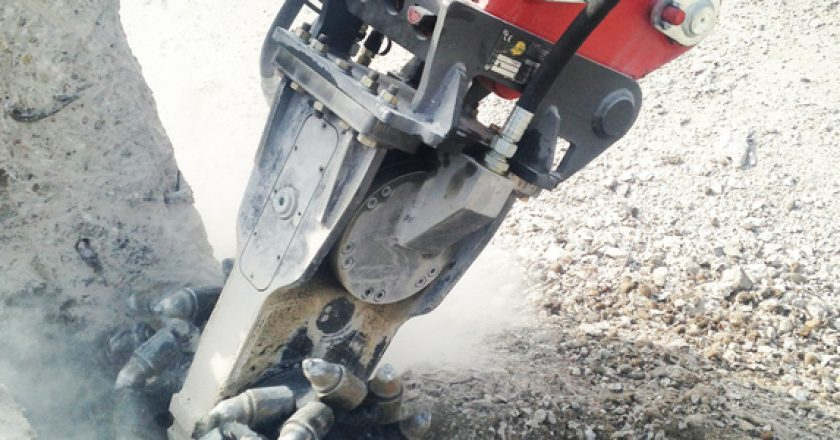 Case study: an efficient solution for trenching rock
