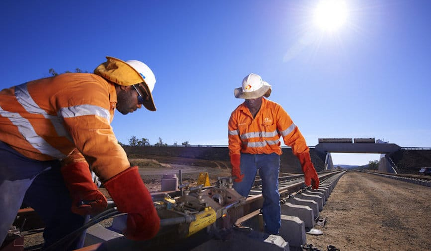 Repair works near completion on major QLD rail line - Inside