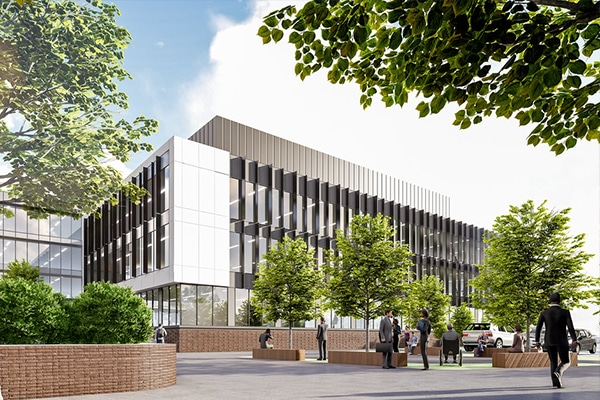 Works have begun on the $75 million office building which will house the NSW Government's Department of Primary Industries in Orange.