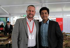 Callan Mantell (L) and Karthik Venkatasubramanian, Senior Director Data Strategy and Operations at Oracle Construction and Engineering (R).