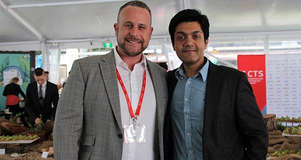 Callan Mantell (L) and Karthik Venkatasubramanian, Senior Director Data Strategy and Operations at Oracle Construction and Engineering (R).
