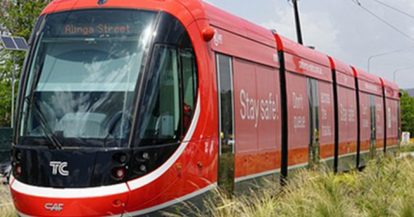 After three years of construction, Canberra celebrated the first day of light rail operation with a celebratory community event on Saturday.