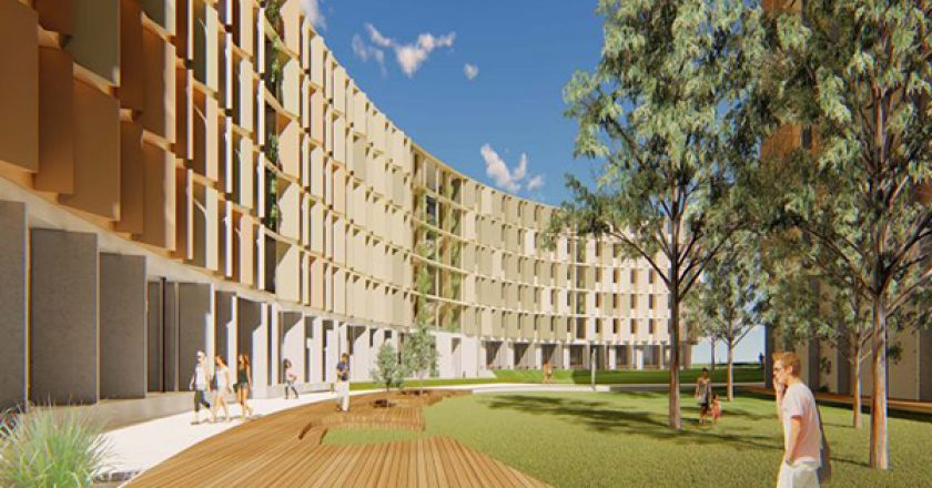 Construction has begun on a $100 million student accommodation project at La Trobe University's Melbourne campus in Bundoora.
