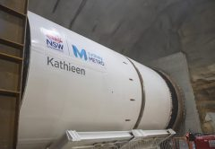 Another Tunnel Boring Machine (TBM) is ready to be launched to dig a rail crossing under Sydney Harbour as part of the Sydney Metro project.