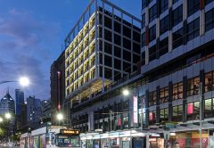 Cross laminated timber (CLT) and a lightweight steel grid frame have been used to build a five-storey extension to a Melbourne office building.
