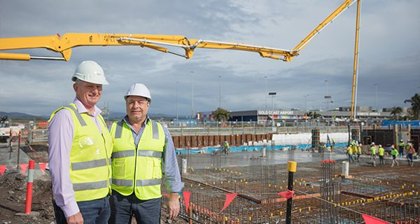 Steve Marais and Carl Bruhn at GCA hotel site