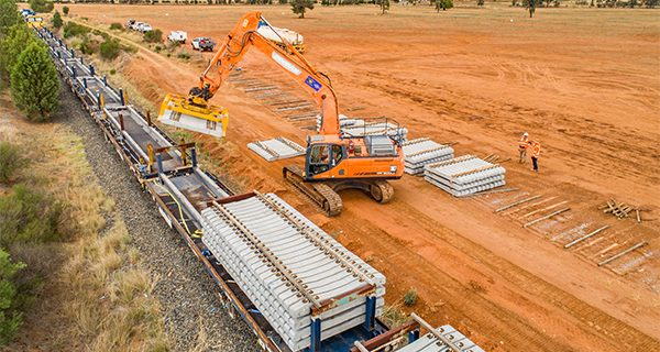 More than 63 kilometres of existing rail line has been removed as part of the Inland Rail construction in Parkes, New South Wales.