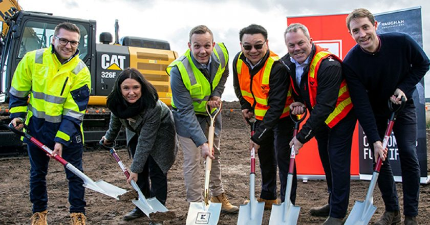 Construction has begun on German supermarket Kaufland's $255 million distribution centre (DC) in Mickleham, Victoria.