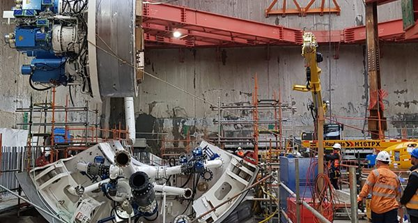 Tunnel boring machines (TBM) for Melbourne's Metro Tunnel are being assembled in North Melbourne, one year since ground was first broken at the site.