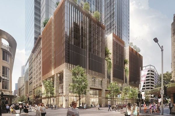 A shortlist of contractors has been announced to build two high-rise buildings above Sydney Metro's Pitt Street station.