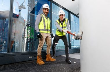 Demolition works have begun to help reshape the Shell-owned QGC business headquarters in Brisbane as it undergoes a major design upgrade.