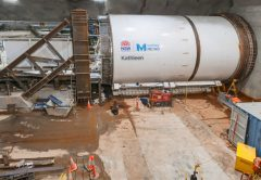 Tunnel boring machine (TBM) Kathleen has been launched 30 metres below ground to begin building a tunnel underneath Sydney Harbour for Sydney Metro.