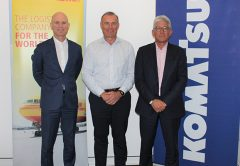 Komatsu has signed a multi-year agreement to import over a million kilograms of machinery parts each year into Australia and New Zealand.