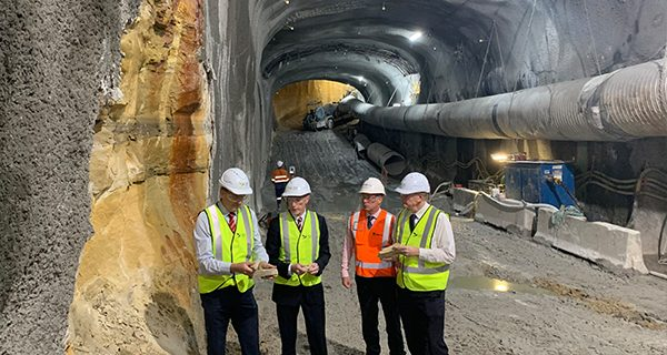 Sandstone excavated from Sydney Metro tunnels will go towards building the new Western Sydney International airport.