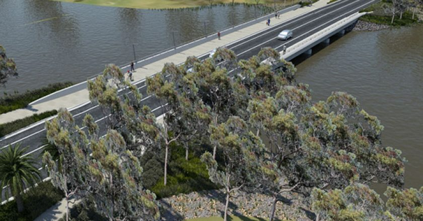 Piling works are underway to build the foundation of the $12.8 million Camp Street Bridge in New South Wales.