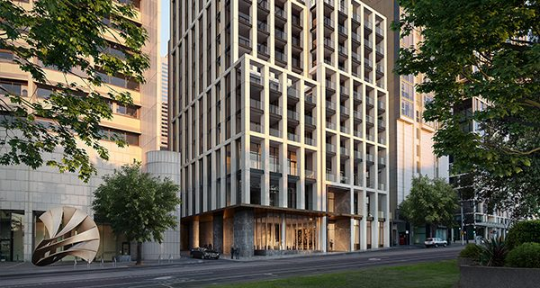 Cbus Property has selected a builder to deliver its $300 million luxury residential development on Spring Street, Melbourne.