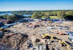 Construction has ramped up on the $341 million Concord Hospital rebuild in New South Wales.