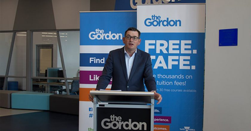 Upgraded buildings have been officially opened at Geelong's The Gordon TAFE, as part of a $10 million boost from the Victorian Government.