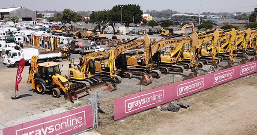 GraysOnline will auction a selection of mostly late model earthmoving and civil construction equipment, starting at $9.