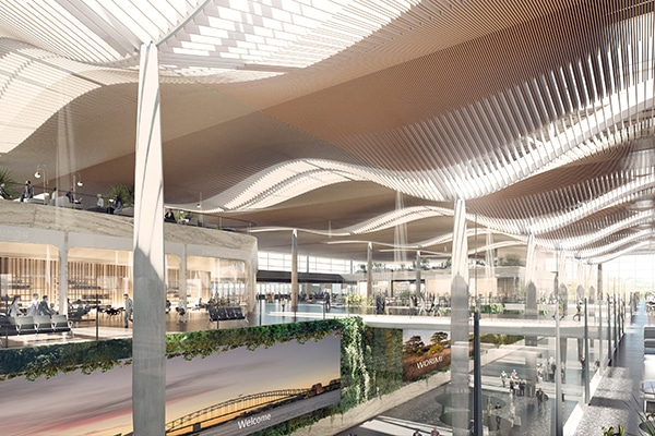 Western Sydney International Airport has released the first design images, showcasing the new terminal building, following a competition to find a designer.