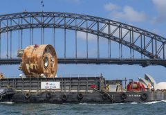 Tunnelling under the Sydney Harbour is now complete, with 87,400 tonnes of sandstone, clay and sediment excavated by tunnel boring machine (TBM) Kathleen.
