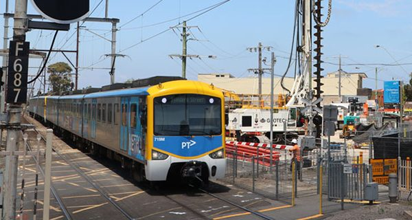 Work is underway to remove three level crossings and to build two new stations on the Frankston rail line in Melbourne at Cheltenham and Mentone.