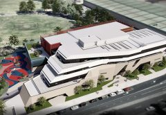 Construction has begun on a vertical school in Fishermans Bend, Port Melbourne, which will be four storeys tall and cater for up to 1100 students.
