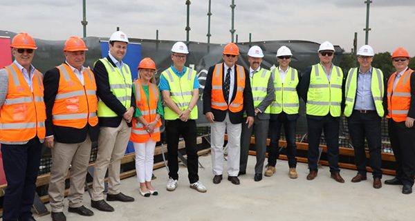 Construction on the New South Wales Department of Planning, Industry and Environment's new hub has reached a major milestone, topping out ahead of schedule.