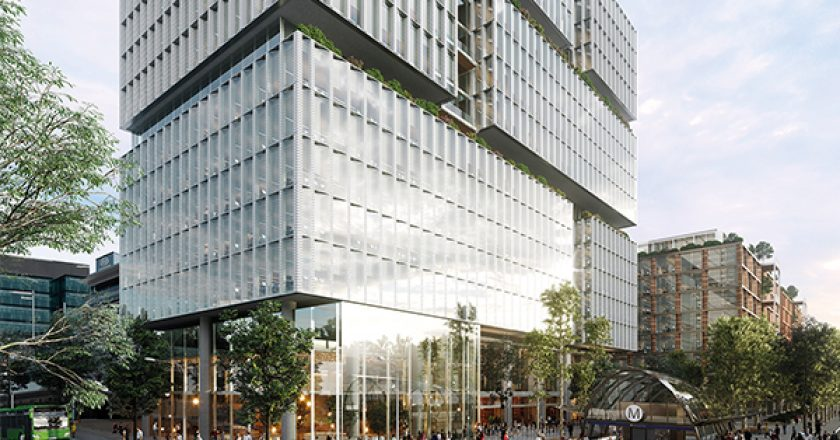 Development approval has been granted for the $750 million Macquarie Exchange community business district, which aims to covert a 15,260 square metre site into four high-rise buildings.