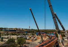 Around 70 per cent of girder installations have been completed on the Flinders Link Project in South Australia, with a total of 14 steel beam bridge girders installed over the last three months.