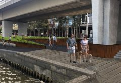 Improvement works are scheduled to begin at Enterprize Park, located on the north bank of Melbourne's Yarra River, to improve accessibility.
