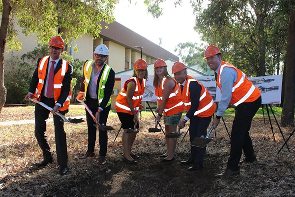 The first sod has been turned on Osborne Park Hospital's $15m Rehabilitation and Neonatal Nursery project.