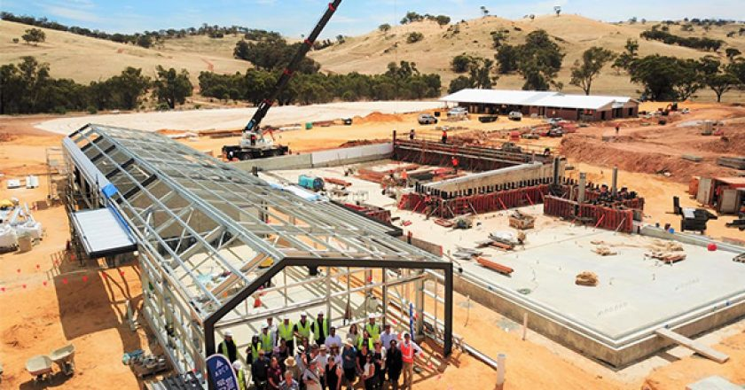 ADCO has celebrated the last concrete pour on the $13 million Toodyay Sport and Recreation Precinct, 85 km east of Perth.