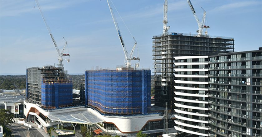 One of Australia's largest air-rights developments has topped out as part of property developer Golden Age Group's $430 million Sky Garden project.