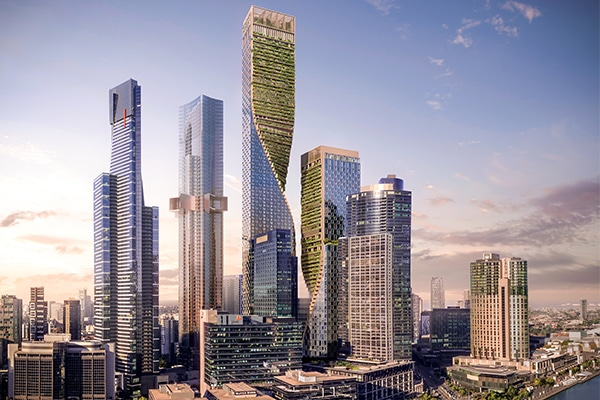 Plans to build Australia's tallest tower have been given the green light, which is expected to create 4700 construction jobs and provide $1 billion additional investment for Melbourne's building industry.