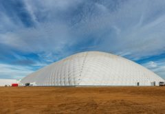 One of the world's largest air dome structures has been built in the gold fields region of Western Australia as part of a commercial geological repository for hazardous waste.