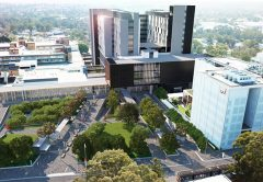 Construction of a new hospital building in Western Sydney has been finished earlier than planned, allowing it to provide hundreds of beds to COVID-19 patients if the need arises.