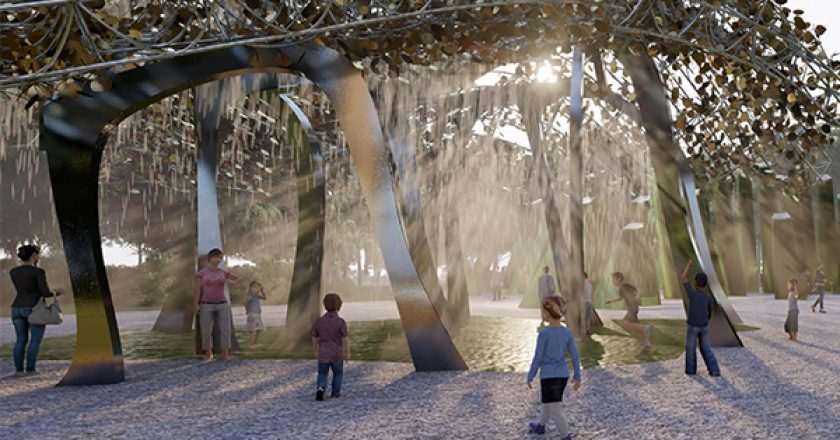 Construction of two eight to 12-metre tall 'solar trees' at the North Queensland Stadium precinct is expected to create 120 direct and indirect jobs.