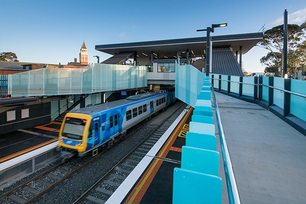 Mentone Station has opened two weeks early following a two month construction blitz as part of the Victorian Government's $3 billion investment into rail infrastructure.