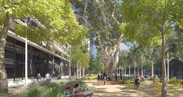 Works have begun on a new civic space outside of the ABC Centre in Melbourne as part of the Southbank Boulevard upgrade project.