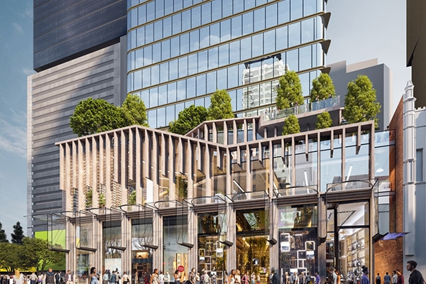 Charter Hall has lodged a development application to build a $480 million office building at 60 Queen Street, Brisbane.