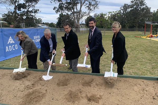 The first sod has been turned on the $60 million Batemans Bay's Aquatic, Arts and Leisure Centre, signalling the start of construction works.