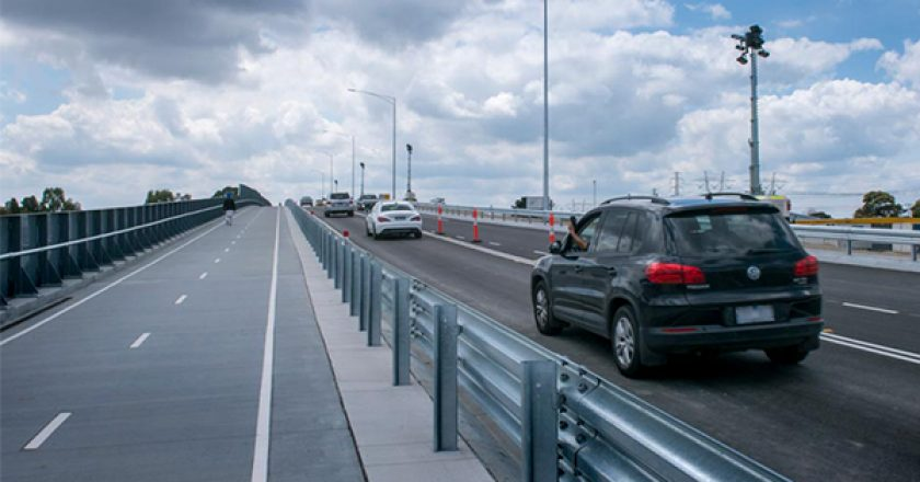 A new road bridge is open to traffic at Evans Road in Melbourne's south east, as part of the $1 billion upgrades program on the Cranbourne Line.