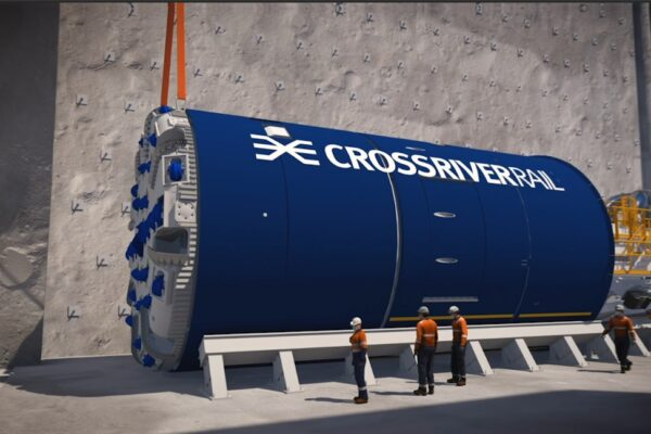 The first of two tunnel boring machines (TBMs) have been launched at the future site of the Woolloongabba station, to build Cross River Rail tunnels.