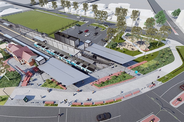 Artist impression of the new North Williamstown Station. Image: Level Crossing Removal Project