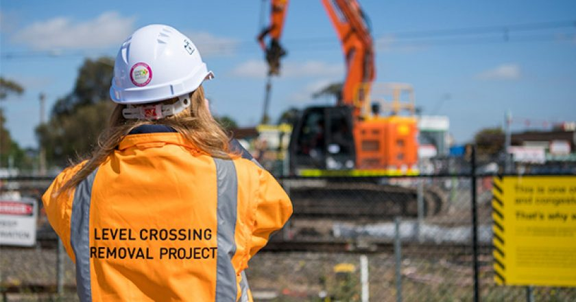 Construction works have begun at the Old Geelong Road level crossing removal project in Hoppers Crossing.