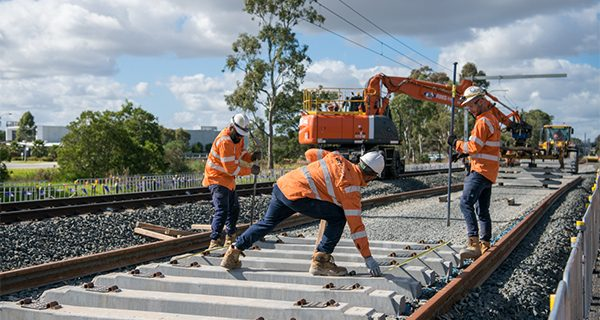 Major work has begun to untangle tracks at the junction where the Cranbourne and Pakenham lines merge in Melbourne.